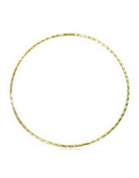 Bracelete Fino Dourado Diamantado Folheado a Ouro 18k