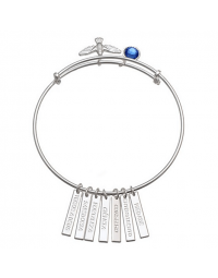 Bracelete Feminino Espirito Santo - Joia em Prata Pura