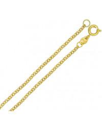Corrente Elo Português Banhada a Ouro 18k 50 cm 1 mm