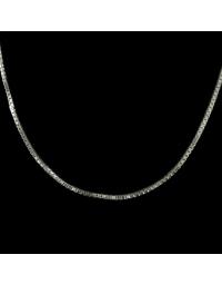 Corrente Veneziana Longa de Prata 60 cm 1 mm