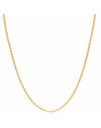 Corrente Banhada a Ouro 18k Feminina Corda 45 cm 2 mm
