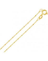 Corrente Fininha de Bolinhas Folheada a Ouro 18k 45 cm