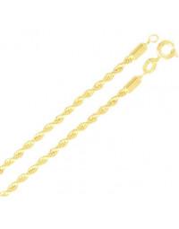 Maxi Colar Cordão de 80 cm e 2 mm Banhado a Ouro 18k