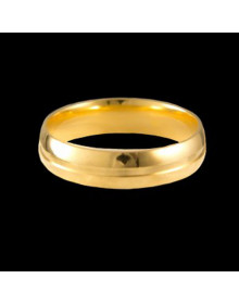 Aliancas de Ouro com Vincos 5mm - Alianças de Casamento e Noivado