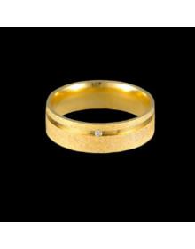 Aliancas de Ouro Anatomicas Diamantadas 6mm - Alianças de Noivado e Casamento