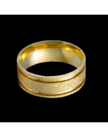 Aliancas de Ouro Anatomicas Diamantadas 8mm - Alianças de Casamento e Noivado