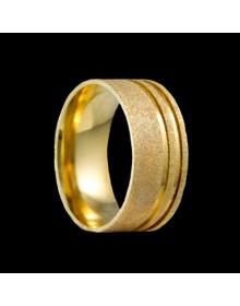 Aliancas de Ouro Anatomicas Diamantadas 8mm - Alianças de Casamento