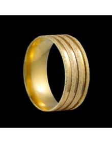 Aliancas de Ouro Anatomicas Diamantadas 8,2mm  - Alianças de Casamento e Noivado
