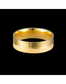 Aliancas de Prata Diamantadas 6mm Banhadas a Ouro 18k