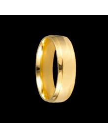 Aliancas de Prata Anatomicas 6mm Banhadas a Ouro 18k - Alianças de Noivado e Casamento