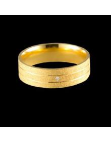 Aliancas de Prata Diamantadas 6mm Banhadas a Ouro 18k - Alianças de Namoro, Compromisso e Casamento