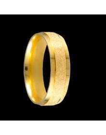 Aliancas de Prata Diamantadas 6mm Banhadas a Ouro 18k - Alianças de Casamento e Noivado