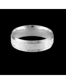Aliancas de prata diamantadas com pedra 6mm