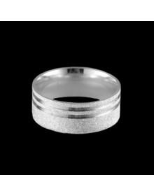 Aliancas de Prata Anatomicas Diamantadas 8mm - Alianças de Namoro e Compromisso