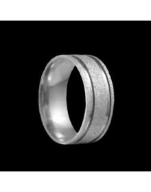 Aliancas de Prata Grossas Diamantadas 8mm - Alianças de Namoro e Compromisso