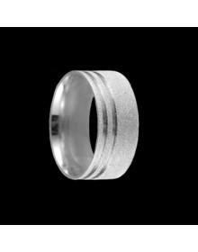 Aliancas de Prata Anatomicas Diamantadas 9,5mm - Alianças de Namoro e Compromisso