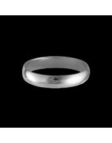 Aliancas de prata anatômicas tradicionais 3,7mm - Alianças de Namoro e Compromisso