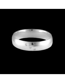 Aliancas de prata anatomicas 5mm - Alianças de Namoro e Compromisso