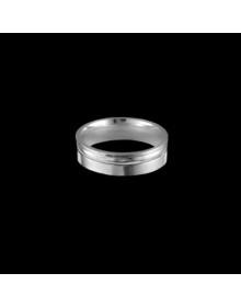 Aliancas de Prata Anatomicas 5,8mm - Alianças de Compromisso