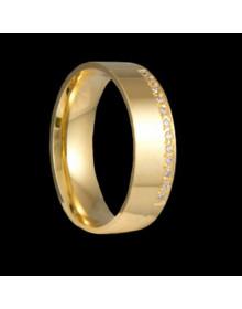 Aliancas de Prata Anatomicas 6mm Banhadas a Ouro 18k - Alianças de Namoro e Casamento
