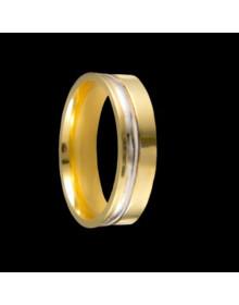 Aliancas de Prata Anatomicas 5,8mm Banhadas a Ouro 18k - Alianças de Noivado e Casamento