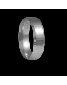 Aliancas de prata anatomicas chanfradas 6mm - Alianças de Namoro e Compromisso