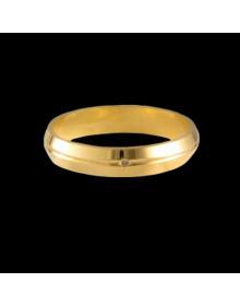 Aliancas de Ouro com Vincos 4mm - Alianças de Noivado