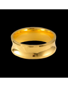 Aliancas de Ouro Grossas Concavas e Anatomicas 7mm - Alianças de Casamento