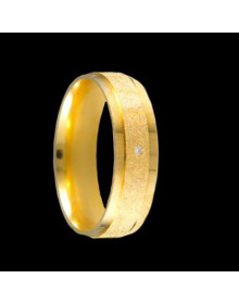 Aliancas de Ouro Anatomicas Diamantadas - Alianças de Noivado