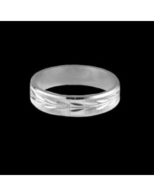 Aliancas de Prata Detalhadas 5mm - Alianças de Namoro