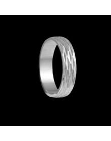 Aliancas de Prata Trabalhadas 5mm  - Alianças de Compromisso