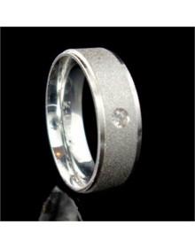 Alianças de Prata Anatômicas Diamantadas 6 mm - Alianças de Namoro e Compromisso