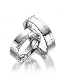 Aliancas de prata anatômicas trabalhadas 4,5mm - Alianças de Namoro e Compromisso