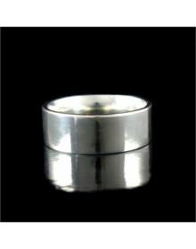 Alianças de Namoro 7 mm Prata 950 Retas Anatomicas