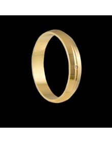 Aliancas de Prata com Vincos Banhadas a Ouro 18k - Alianças de Namoro e Compromisso