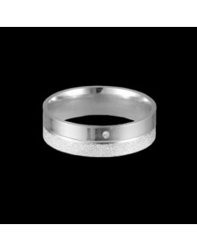 Aliancas de prata diamantadas 4,0mm - Alianças de Namoro e Compromisso