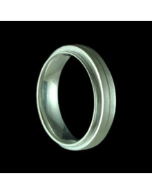Aliancas de prata anatômica com relevo 6,0mm - Alianças de Namoro