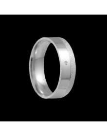 Aliancas de Prata Diamantadas 6mm - Alianças de Namoro e Compromisso