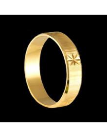 Alianças de Prata Trabalhadas 5mm Banhadas a Ouro 18k - Alianças de Namoro, Compromisso, Noivado e Casamento