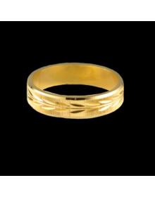 Aliancas de Prata Trabalhadas 5mm Banhadas a Ouro 18k - Alianças de Noivado e Casamento