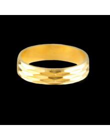 Aliancas de Prata Trabalhadas 5mm Banhadas a Ouro 18k - Alianças de Namoro e Casamento
