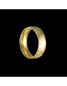 Aliancas de Ouro Tradicionais Anatomicas 6,4mm - Alianças de Casamento e Noivado