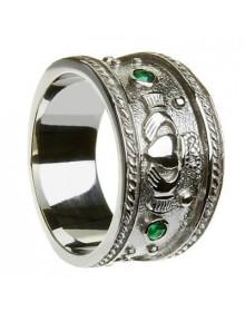 Anel claddagh masculino - Anel Irlandês - Aliança Irlandesa em Prata