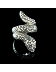 Anel de Prata Cobra Feminino - Joias em Prata