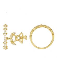 anel com pingente de filha menina