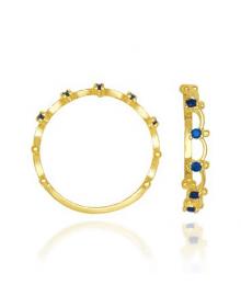 Anel Feminino com Pedra Azul - Semijoias da Moda