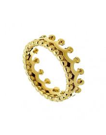 Anel de Coroa Falange Dourado Banhado a Ouro 18k