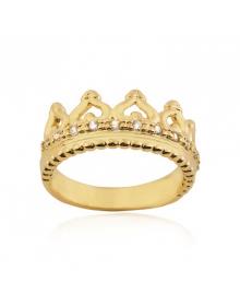 Anel de Coroa Feminino Semijoias