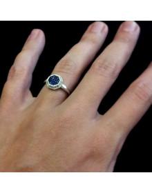 Anel em Prata Com Zircônias Azuis – Jóias e Semi Jóias Boz