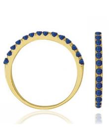 Anel Feminino Azul - Semi Joias Banhadas a Ouro 18k